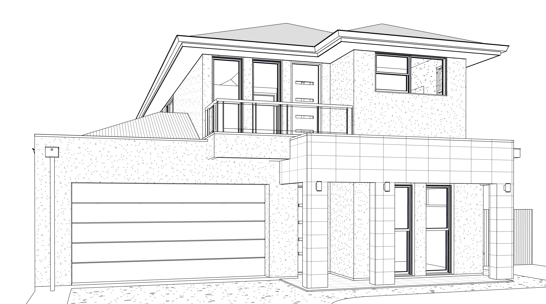 2 Storey Residential Design External Perspective